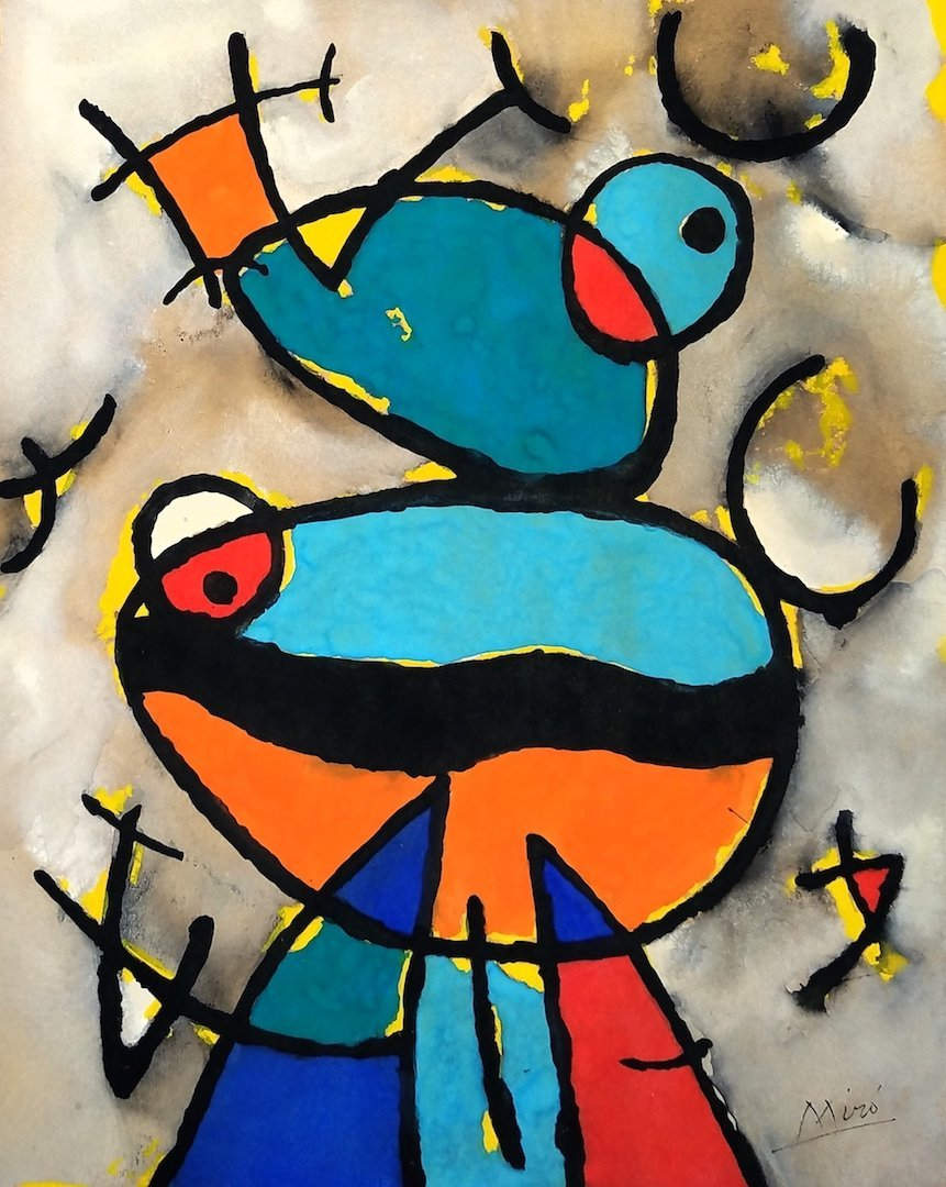 Joan Miro (Gouache on Paper)