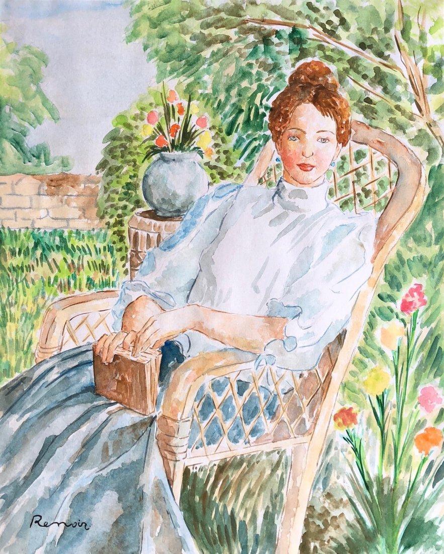 Pierre Auguste Renoir (Watercolor on Paper)
