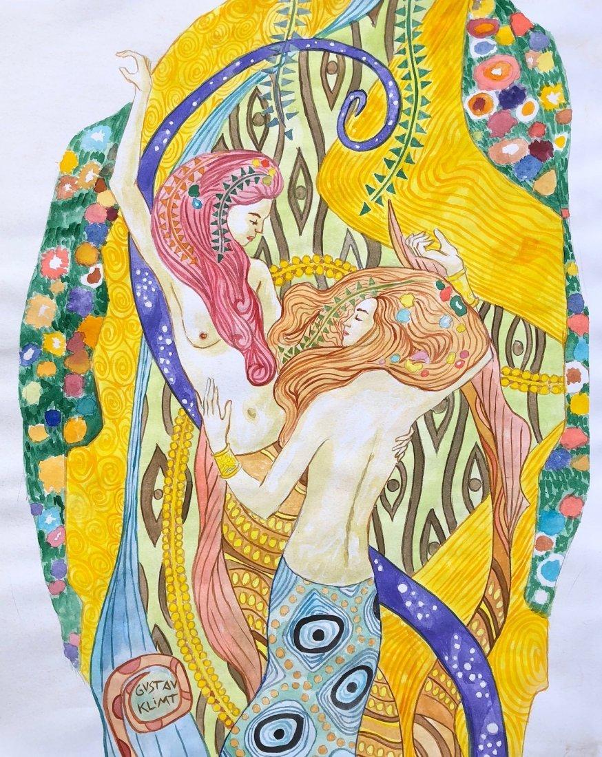 Gustav Klimt (Watercolor on Paper)