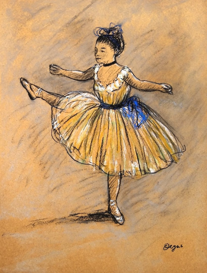 Edgar Degas (Pastel on Paper) Attrib