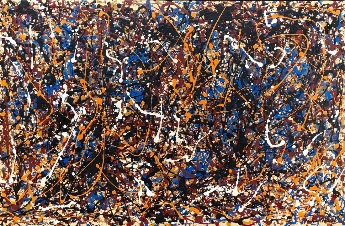 Jackson Pollock (Oil on Canvas) Large Painting