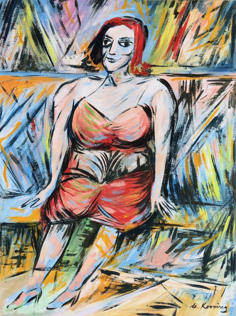 Willem de Kooning (Gouache on paper)