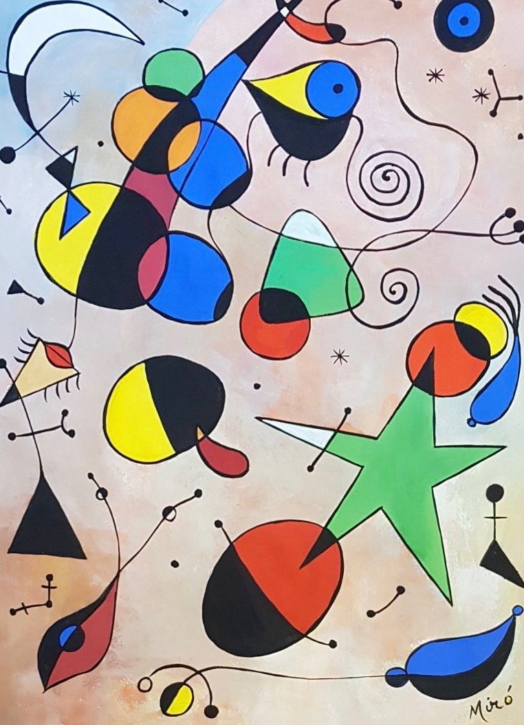 Joan Miro (Gouache on Paper) Painting - 2