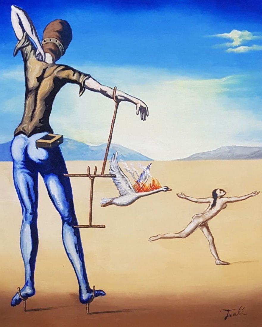 Salvador Dali (Gouache on paper) - 2