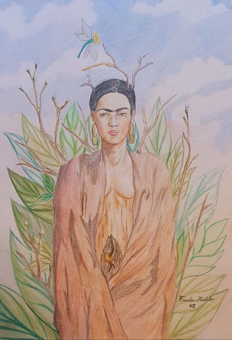 Frida Kahlo (Colored Pencils on Paper)