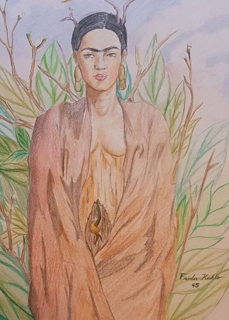 Frida Kahlo (Colored Pencils on Paper) - 2