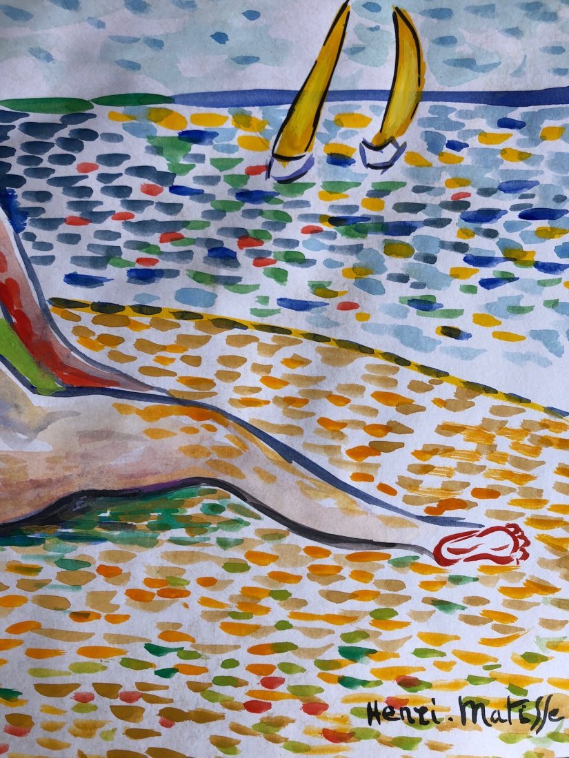 Signed Henri Matisse (watercolor on paper) - 2