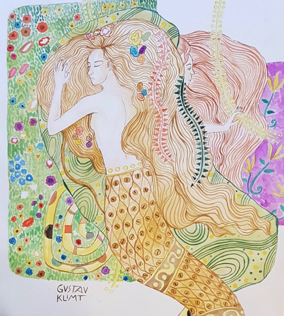 Gustav Klimt (Watercolor on Paper)