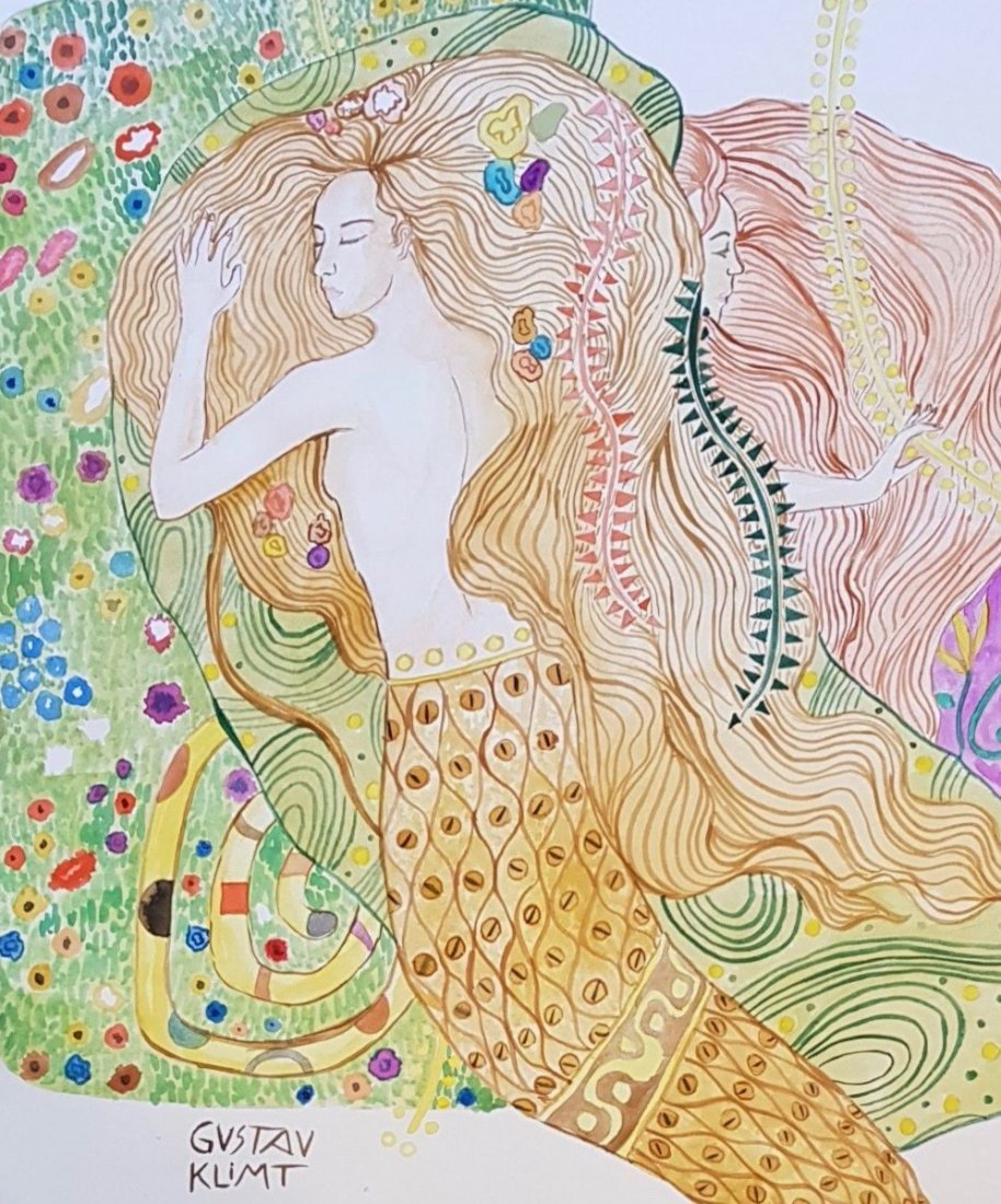 Gustav Klimt (Watercolor on Paper) - 2