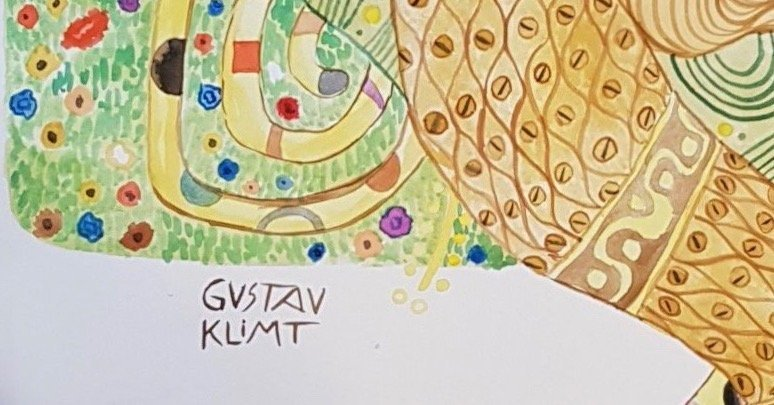 Gustav Klimt (Watercolor on Paper) - 3