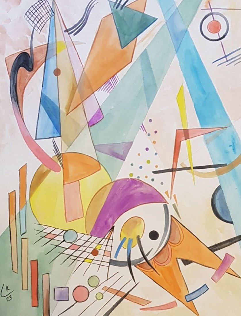 Wassily Kandinsky (Watercolor on paper) - 2