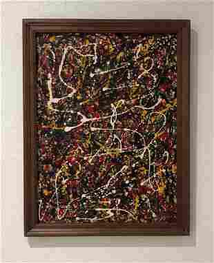 Jackson Pollock (Oil on Canvas)