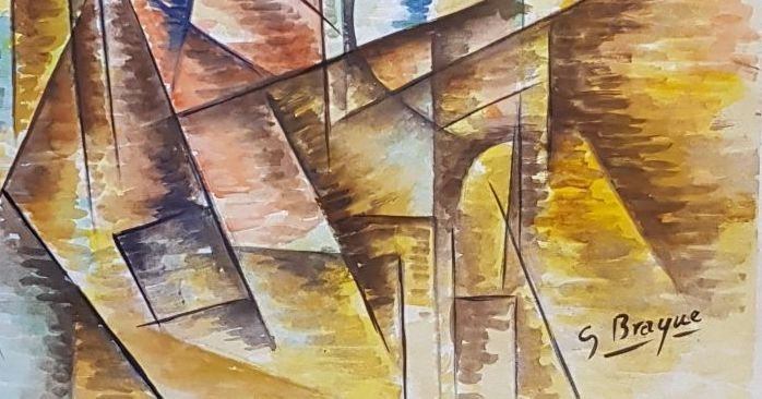 Signed G. Braque (Watercolor on paper) - 3