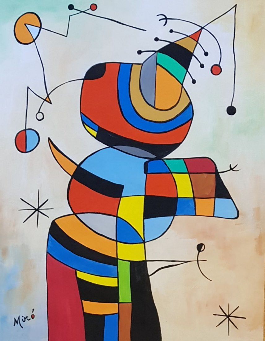 Signed Miro (Gouache on paper)