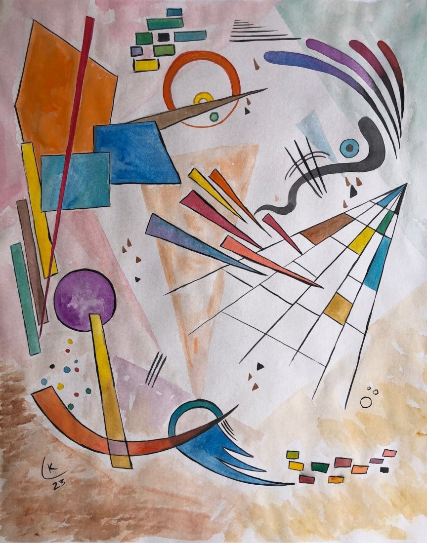 Wassily Kandinsky (Watercolor on paper)