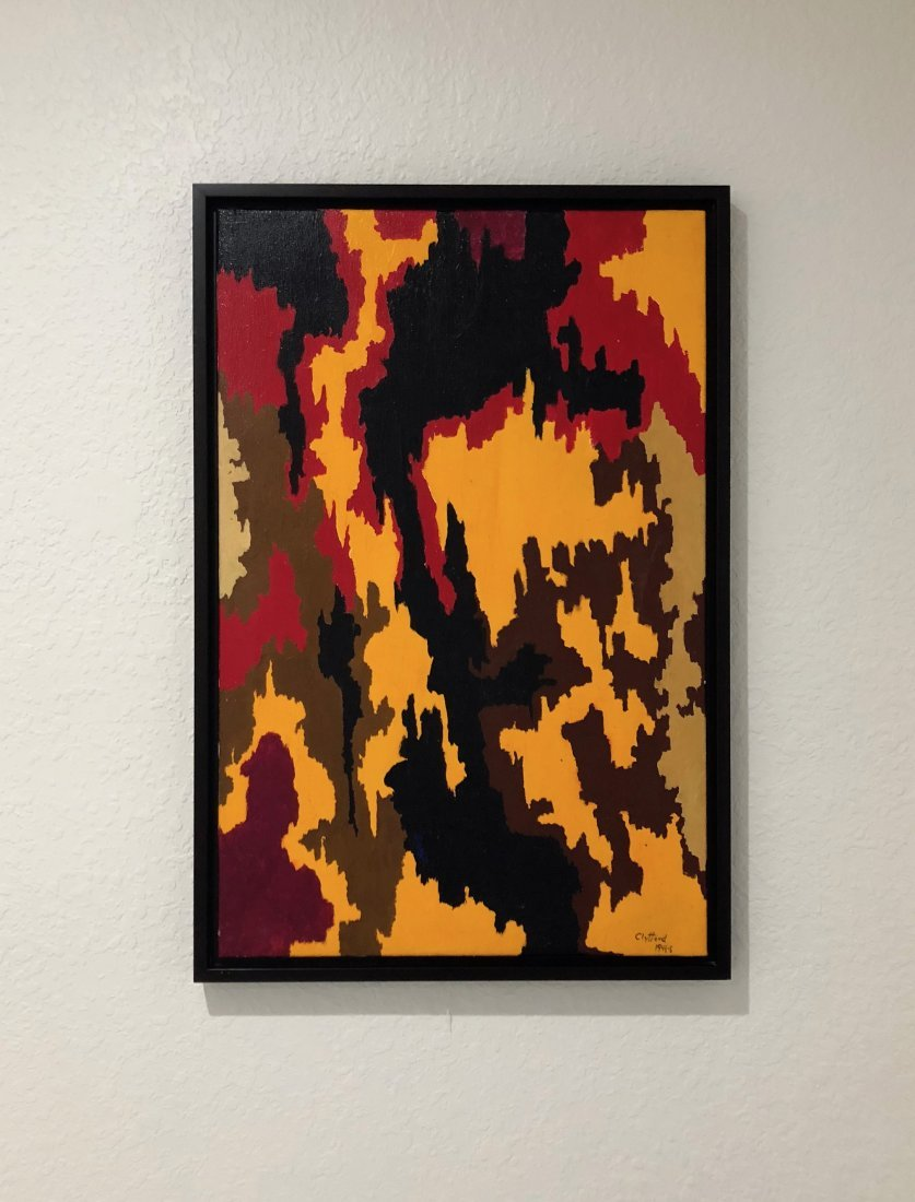 Signed Clyfford (Oil on Canvas)