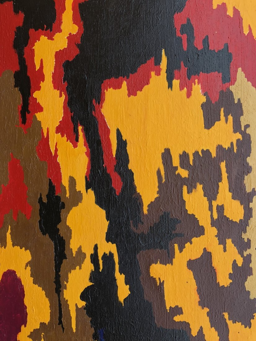 Signed Clyfford (Oil on Canvas) - 2