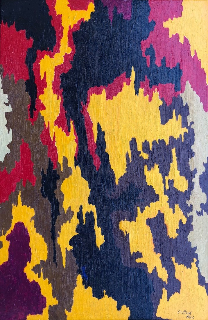 Signed Clyfford (Oil on Canvas) - 3