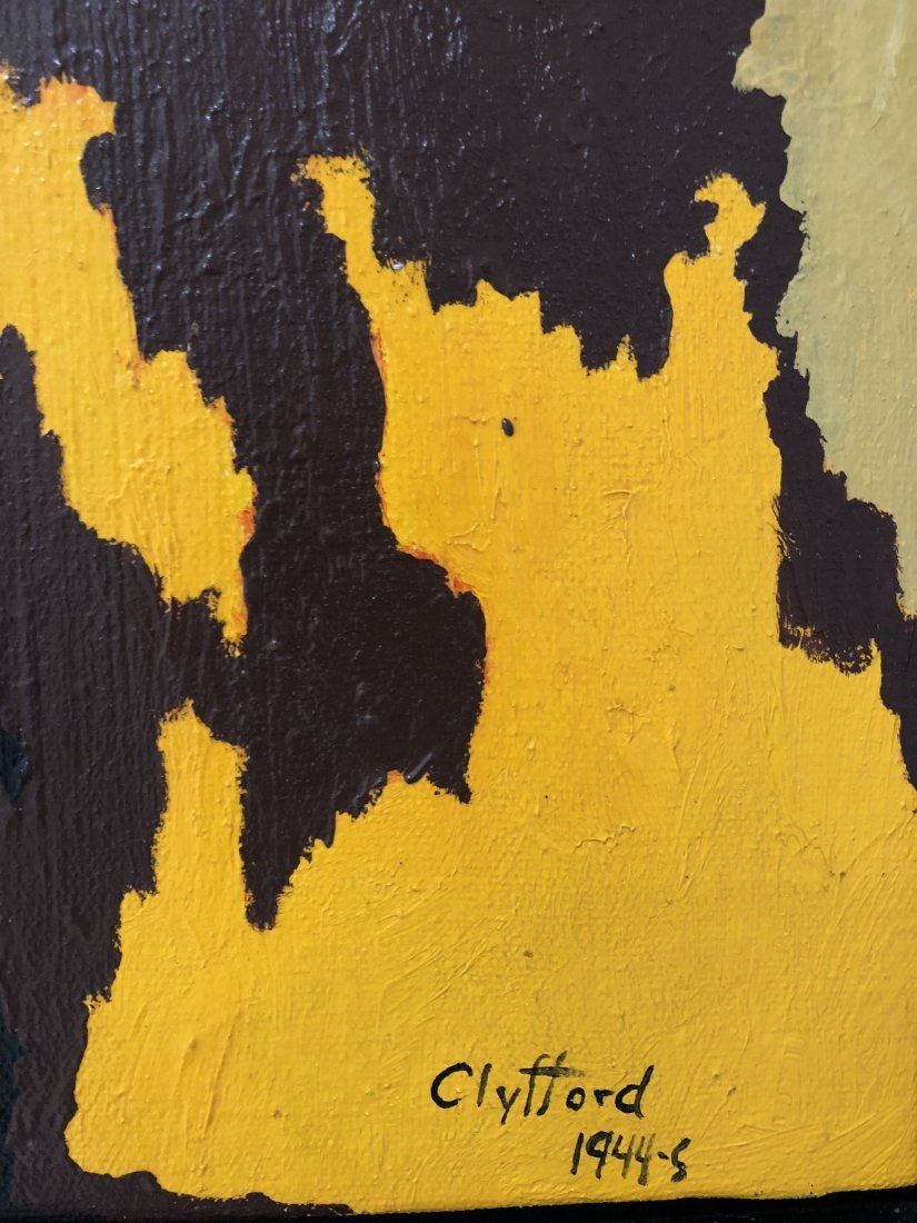 Signed Clyfford (Oil on Canvas) - 4