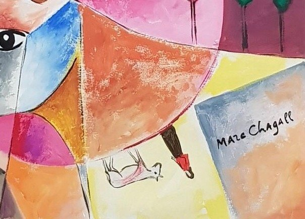 Marc Chagall (Gouache on Paper ) - 3