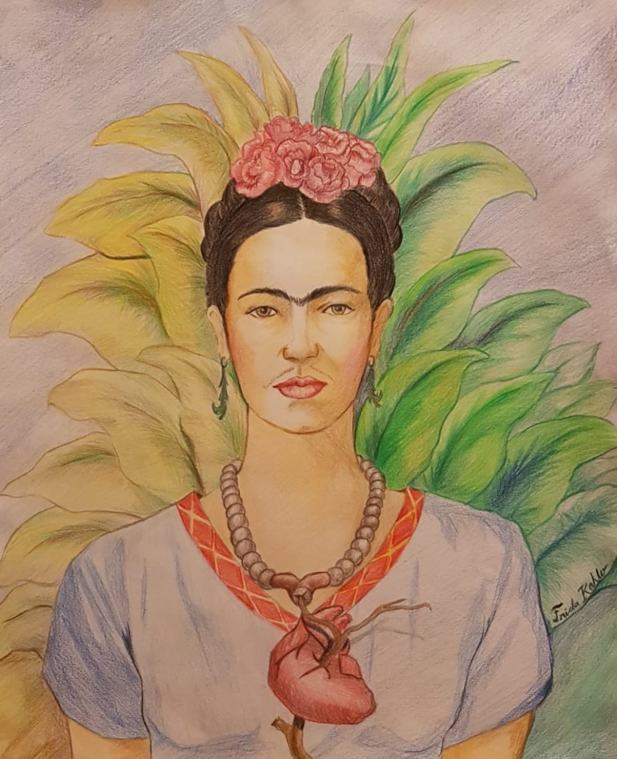 Frida Kahlo (Colored pencils on Paper)