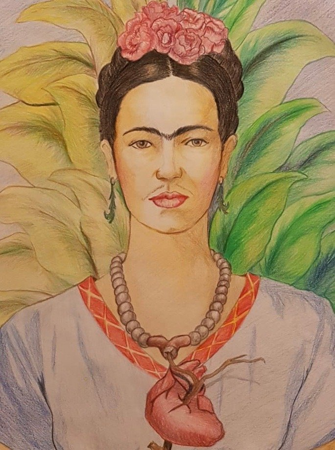 Frida Kahlo (Colored pencils on Paper) - 2