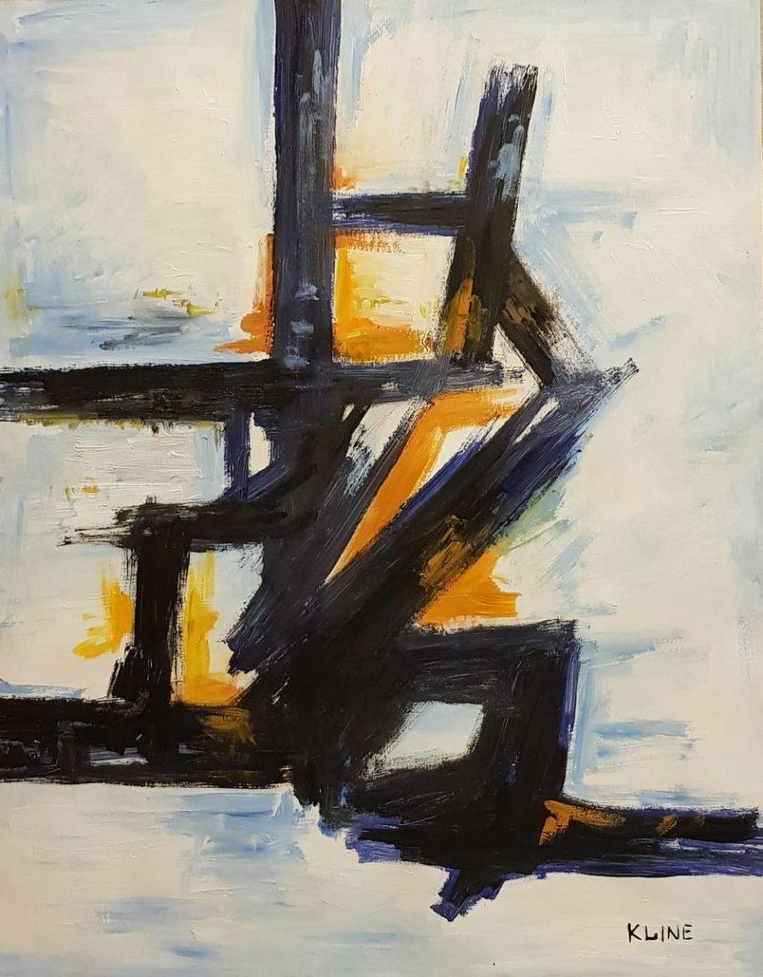 Franz Kline (Oil on Paper)