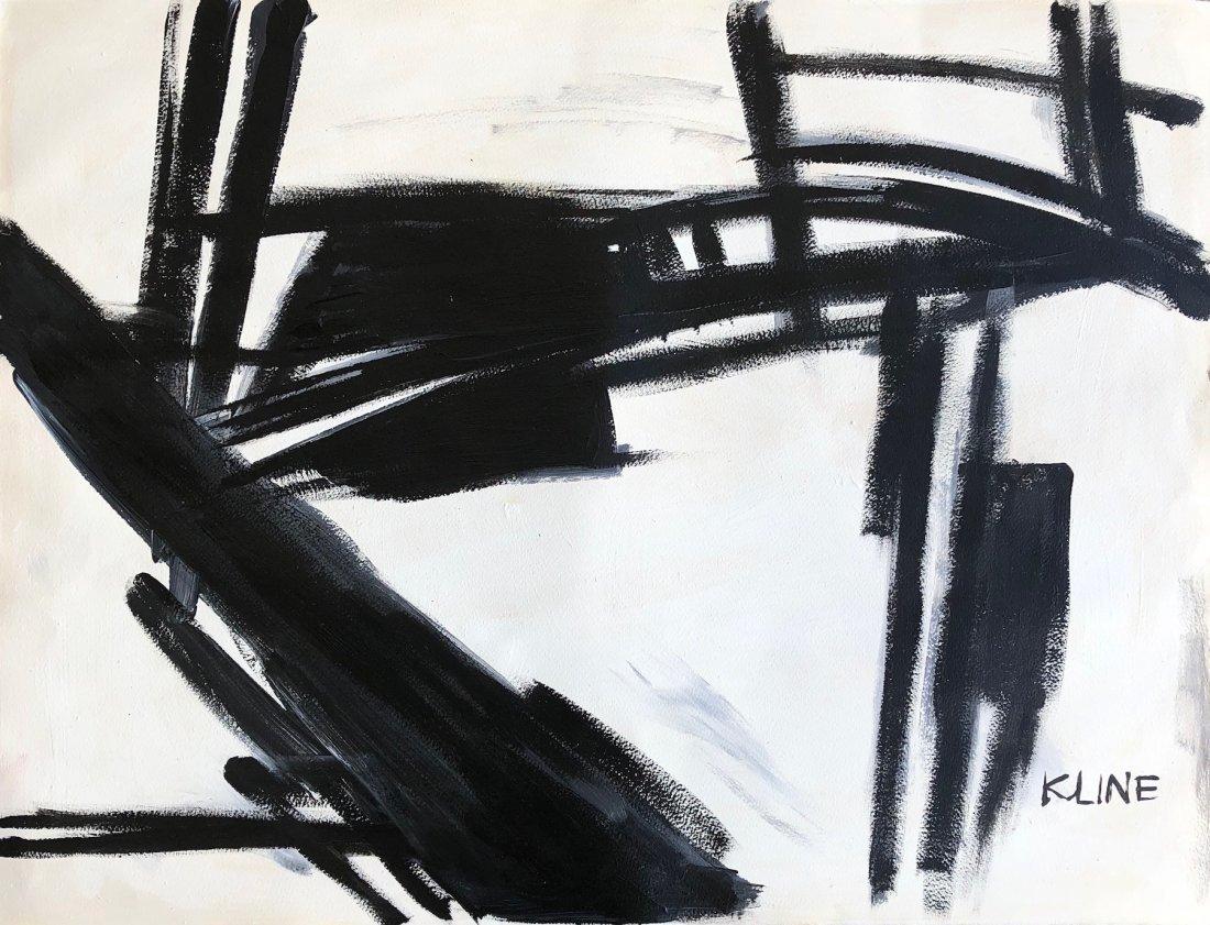 Franz Kline (Oil on Hard Paper)