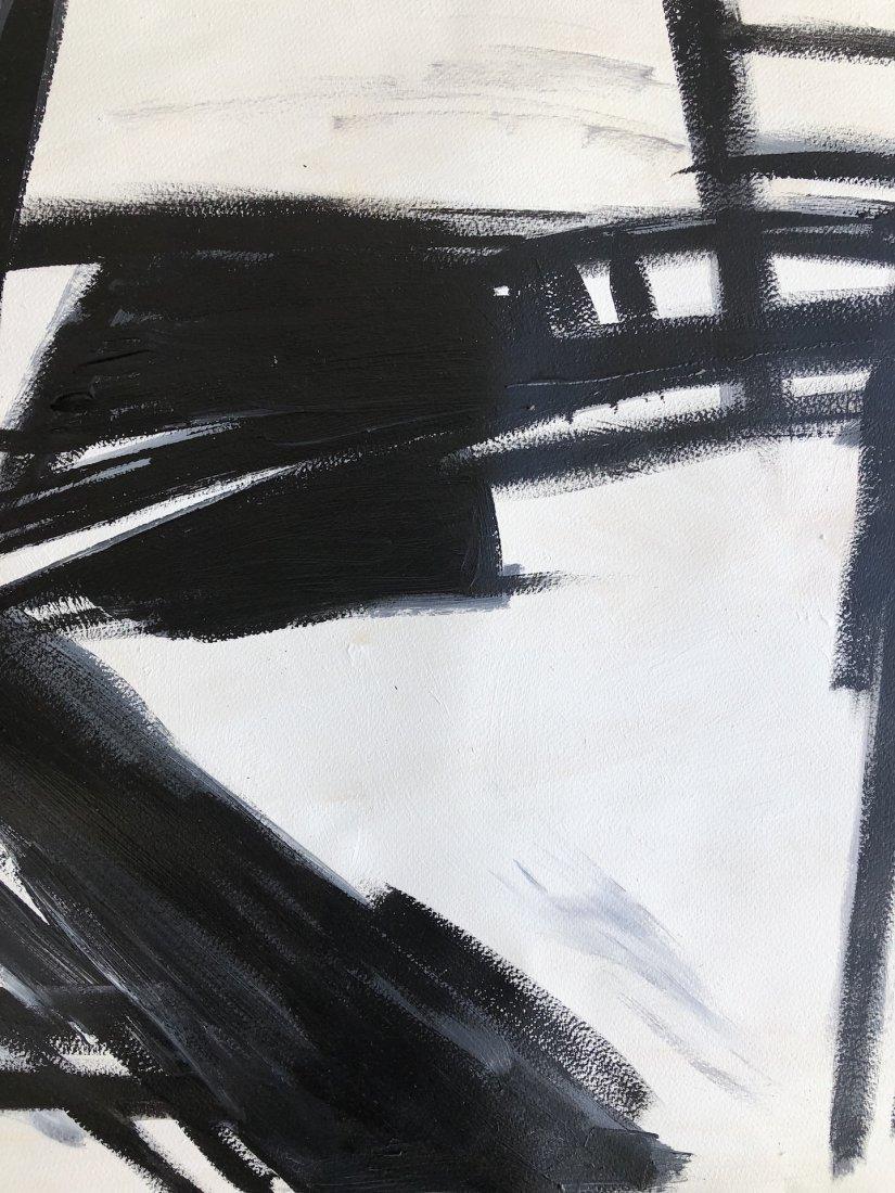Franz Kline (Oil on Hard Paper) - 2