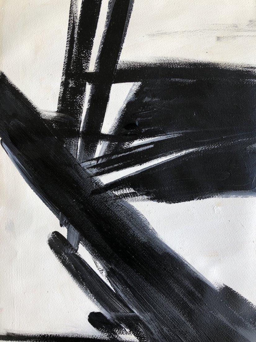 Franz Kline (Oil on Hard Paper) - 3