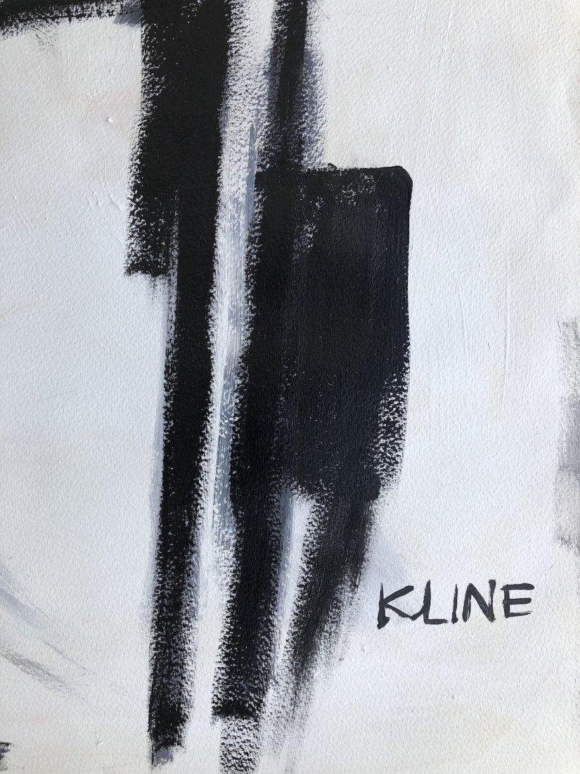 Franz Kline (Oil on Hard Paper) - 4