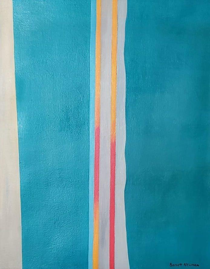 Barnett Newman (Oil on Canvas)