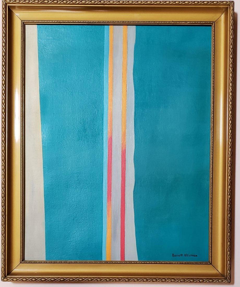 Barnett Newman (Oil on Canvas) - 2