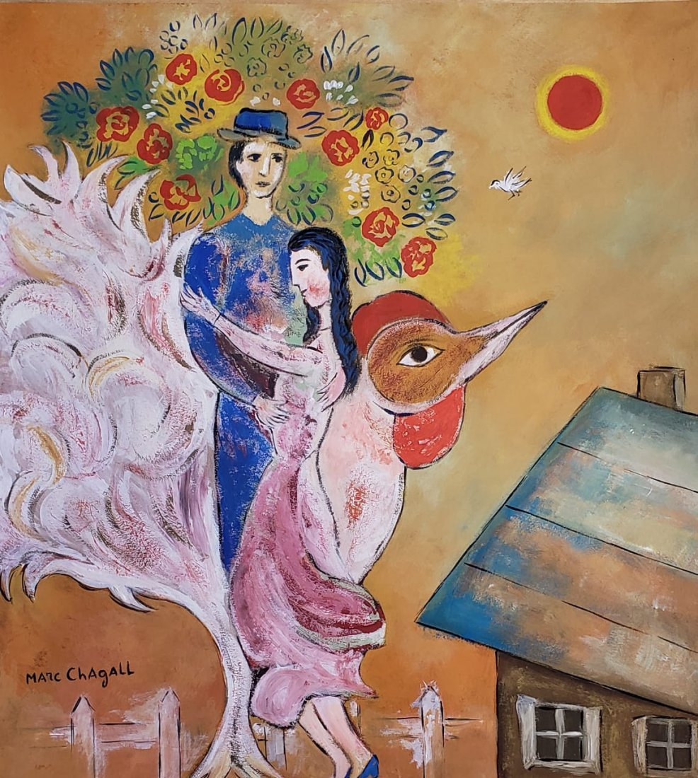 Marc Chagall (Gouache on Paper )