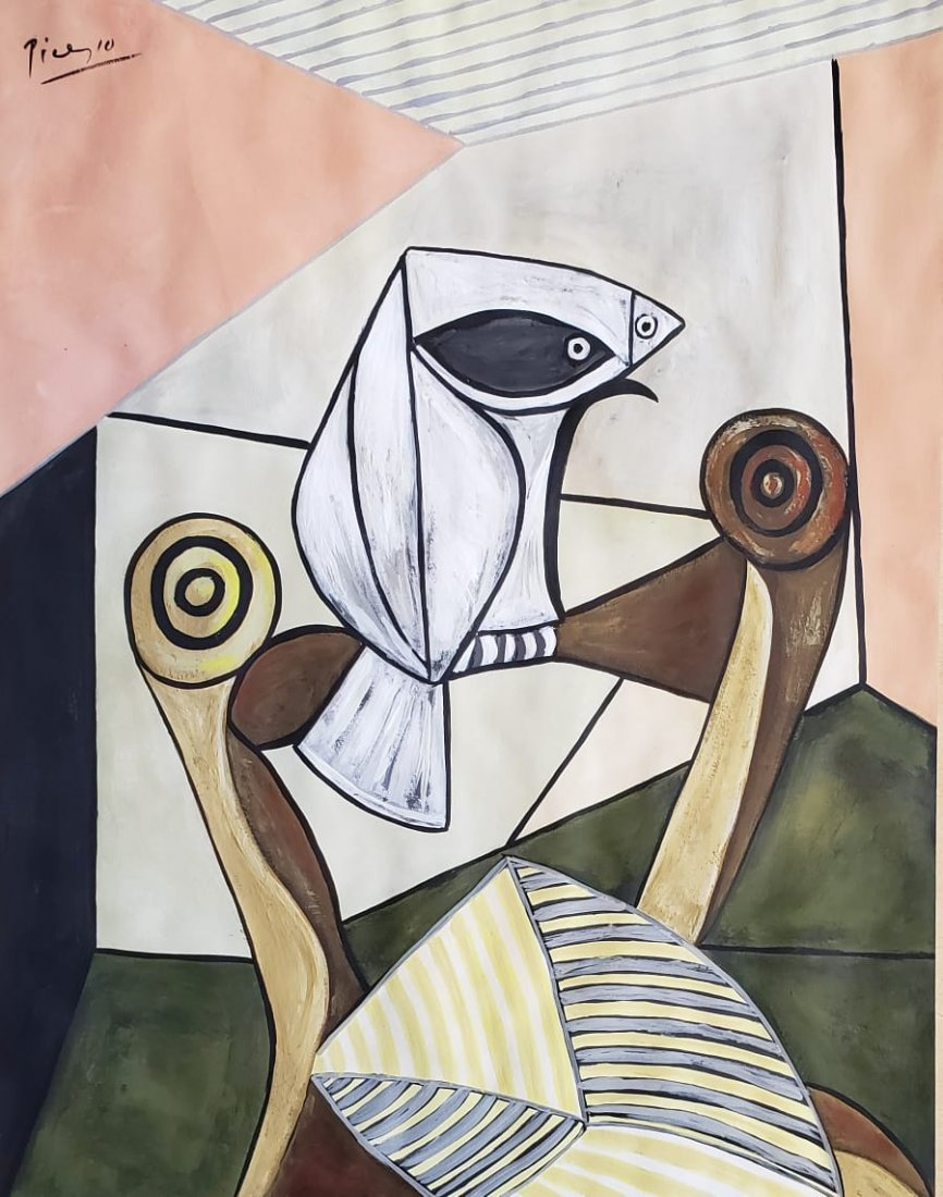 Signed Picasso (Gouache on paper)