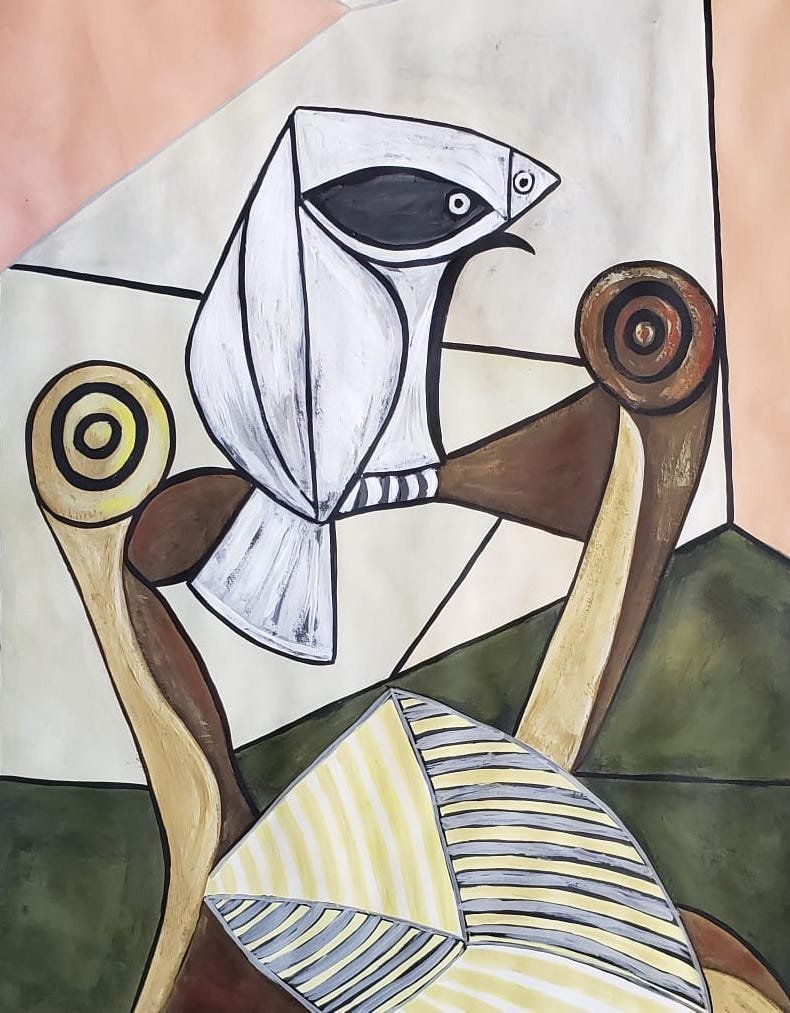 Signed Picasso (Gouache on paper) - 2