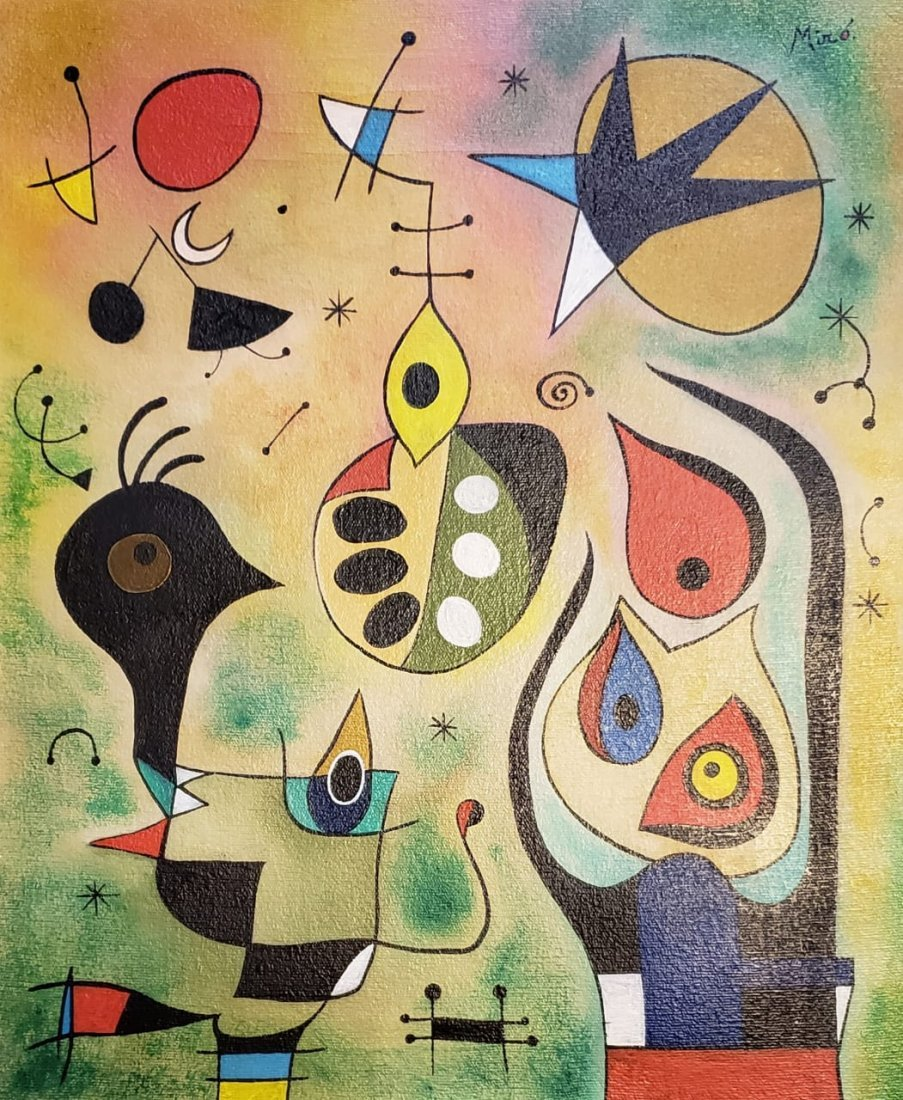 Joan Miro (Oil on Canvas)