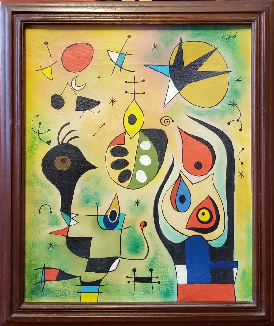 Joan Miro (Oil on Canvas) - 2