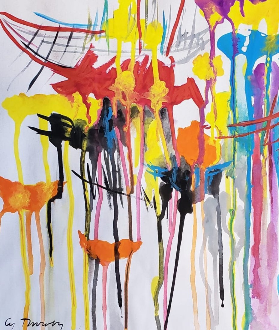 Cy Twombly (Gouache on paper) - 2