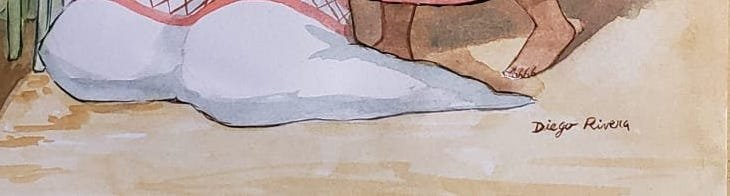 Diego Rivera (Watercolor on Paper) - 3
