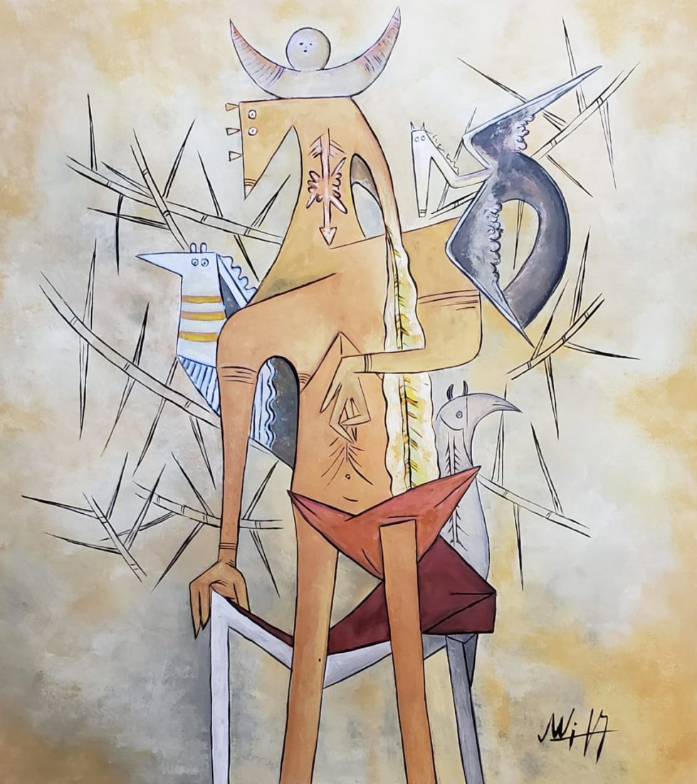 Wifredo Lam (Gouache on Paper)