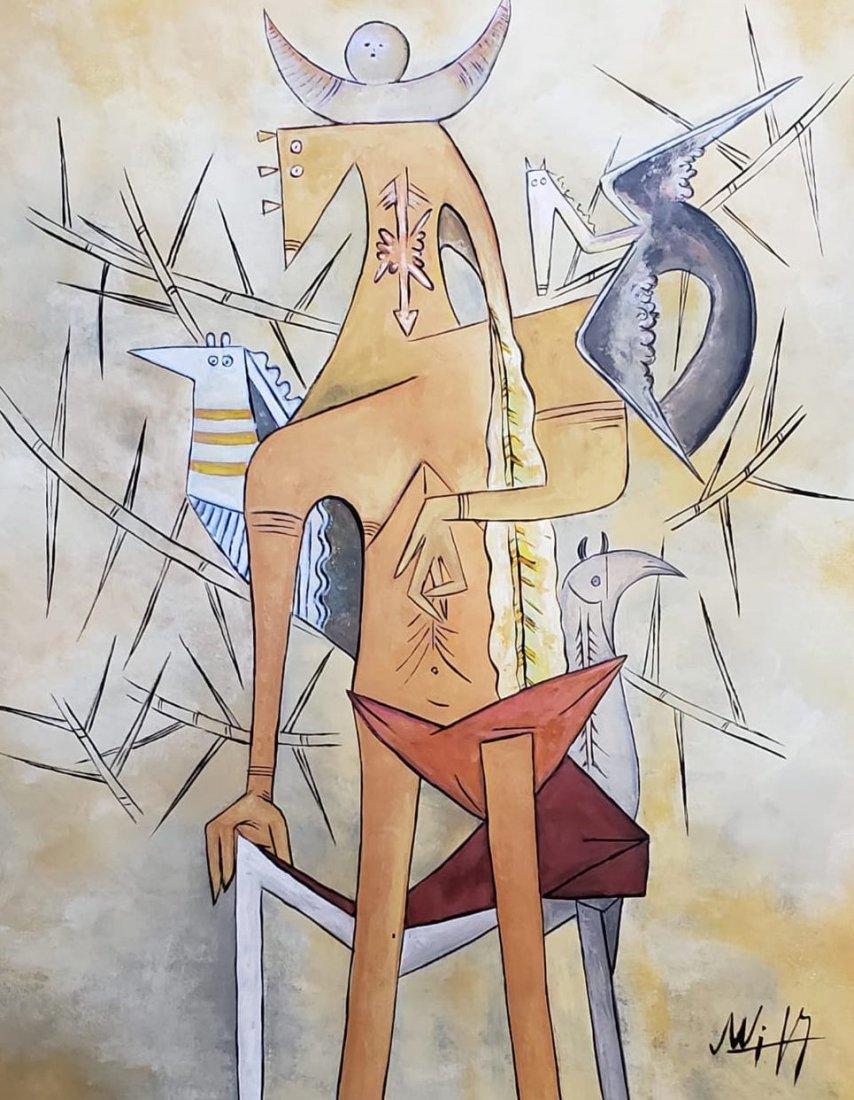 Wifredo Lam (Gouache on Paper) - 2