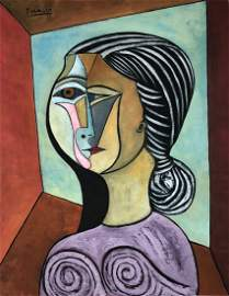Spanish cubist painting