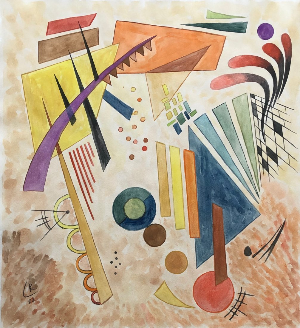 Wassily Kandinsky (Watercolor on paper) Style of