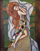 Gustav Klimt (Oil on Canvas) In the style Of