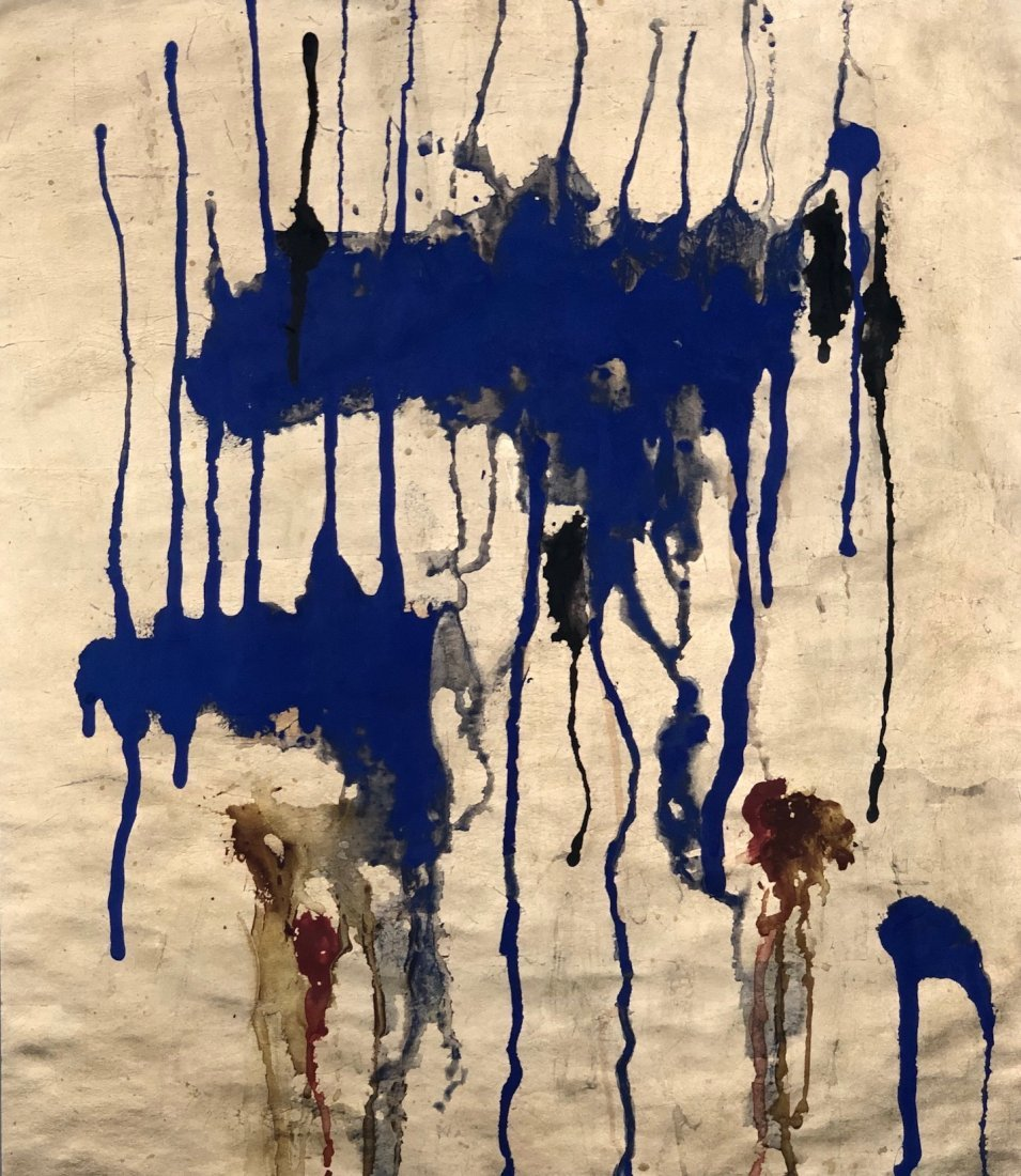 Yves Klein (Gold Leaf and Pigment on Paper) Style Of