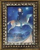 Marc Chagall Oil on Canvas In the Style of