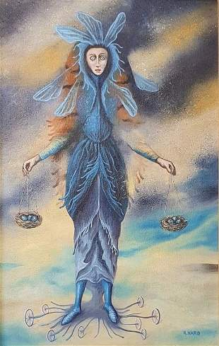 Remedios Varo (Oil on Canvas) in the style of
