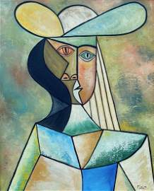 Pablo Picasso (Oil on canvas) In the style of