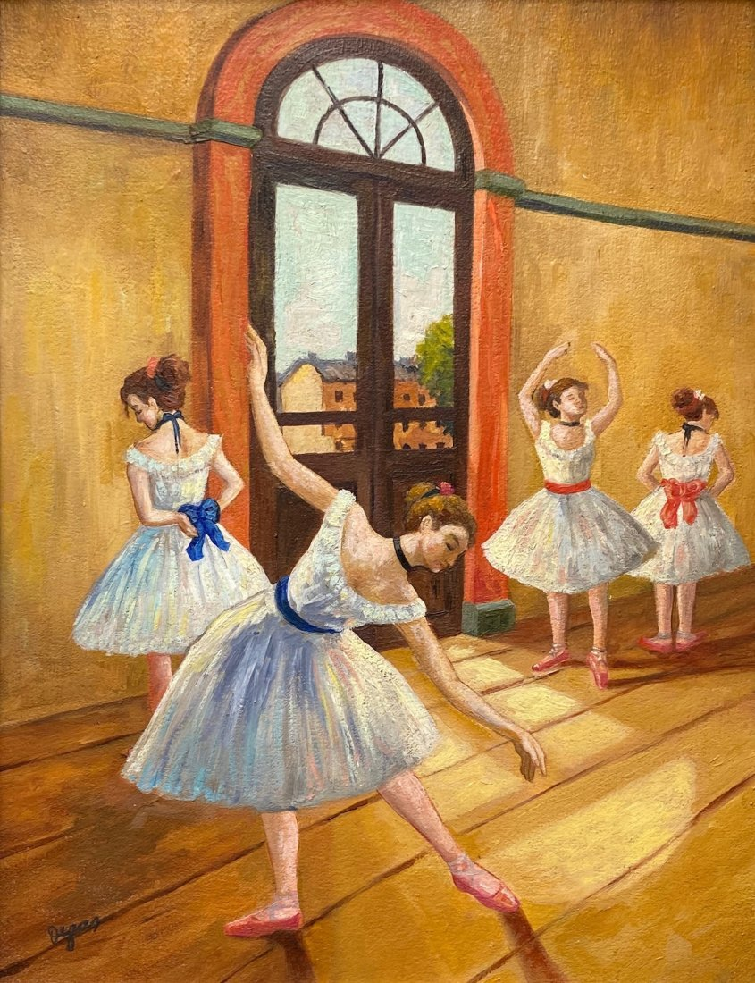 Edgar Degas (Oil on Canvas) In the Style of